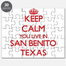 Keep calm you live in San Benito Texas Puzzle
