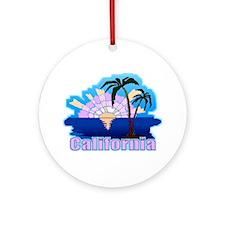 California Sunset Ornament (Round)