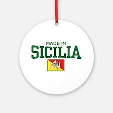 Made In Sicilia Ornament (Round)