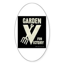 Victory Garden Oval Bumper Stickers
