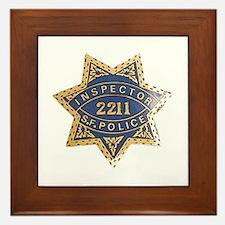 Inspector San Francisco Police Framed Tile