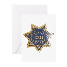 Inspector San Francisco Police Greeting Cards (Pac