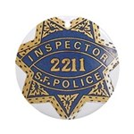 Inspector San Francisco Police Ornament (Round)