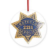 Inspector San Francisco Police Ornament (Round)