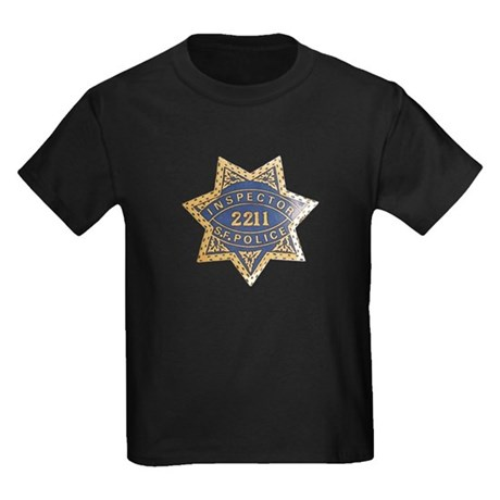 Inspector San Francisco Police Kids Dark T-Shirt