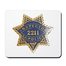 Inspector San Francisco Police Mousepad