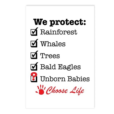 We Protect Postcards (Package of 8)