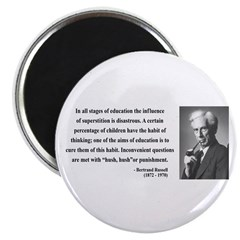"Bertrand Russell 13 2.25"" Magnet (10 pack)"