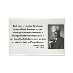 Bertrand Russell 13 Rectangle Magnet (100 pack)