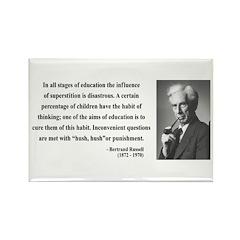 Bertrand Russell 13 Rectangle Magnet