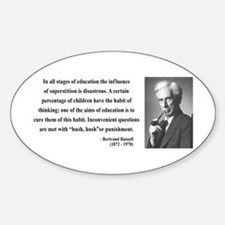 Bertrand Russell 13 Oval Decal