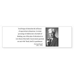 Bertrand Russell 13 Bumper Bumper Sticker