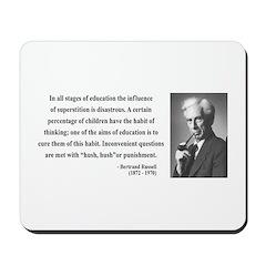 Bertrand Russell 13 Mousepad