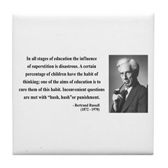 Bertrand Russell 13 Tile Coaster