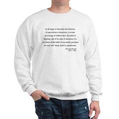 Bertrand Russell 13 Sweatshirt
