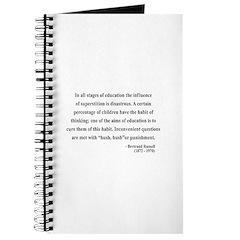 Bertrand Russell 13 Journal