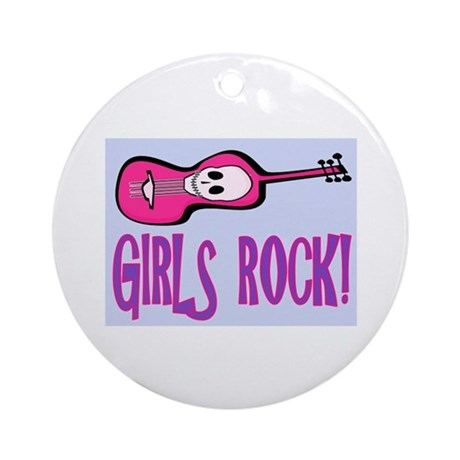 GIRL'S ROCK Ornament (Round)
