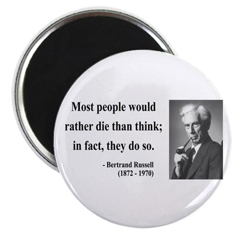"Bertrand Russell 15 2.25"" Magnet (100 pack)"