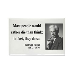 Bertrand Russell 15 Rectangle Magnet (10 pack)