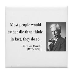 Bertrand Russell 15 Tile Coaster