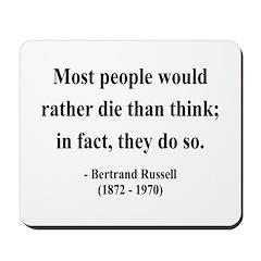 Bertrand Russell 15 Mousepad