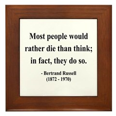 Bertrand Russell 15 Framed Tile