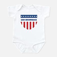 SAM BROWNBACK 08 (emblem) Infant Bodysuit