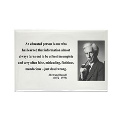Bertrand Russell 16 Rectangle Magnet
