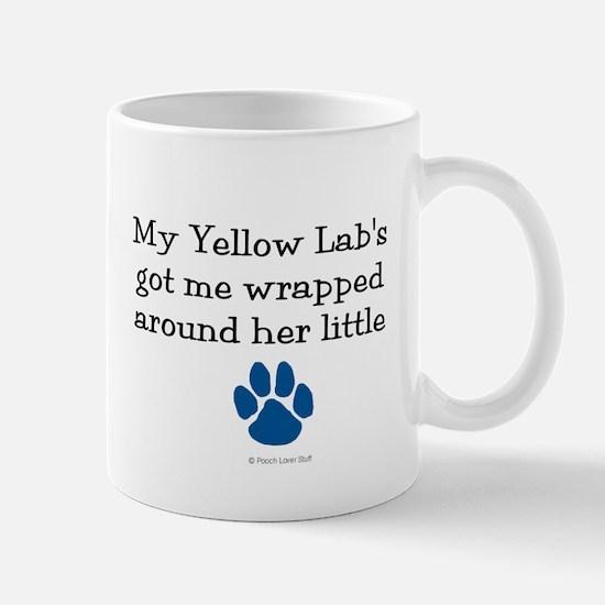Wrapped Around Her Paw (Yellow Lab) Mug