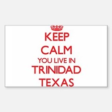Keep calm you live in Trinidad Texas Decal