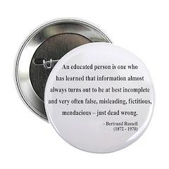 """Bertrand Russell 16 2.25"""" Button"""