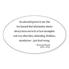 Bertrand Russell 16 Oval Sticker