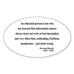Bertrand Russell 16 Oval Decal
