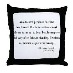 Bertrand Russell 16 Throw Pillow