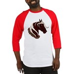 Mountain Horse Head With Wreath Baseball Jersey