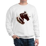 Mountain Horse Head With Wreath Sweatshirt