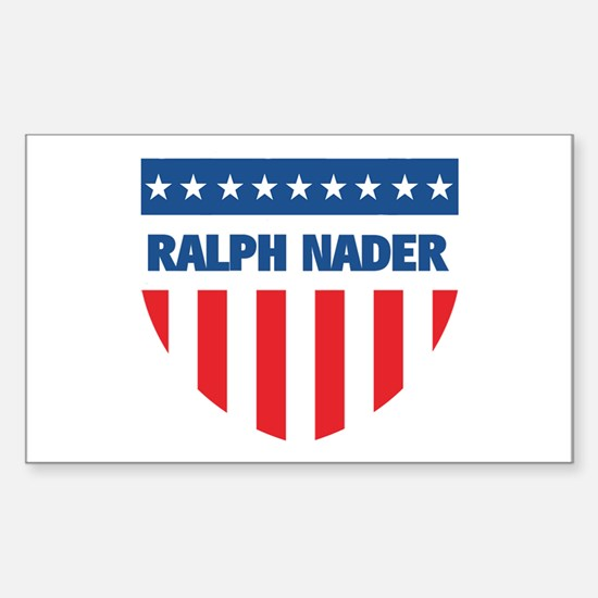 RALPH NADER 08 (emblem) Rectangle Decal