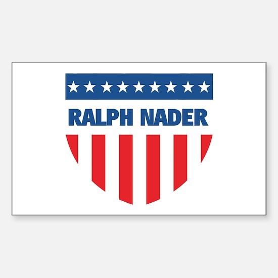 RALPH NADER 08 (emblem) Rectangle Decal