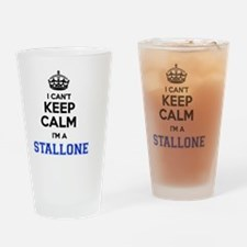 Cute Stallone Drinking Glass