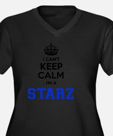 Starz Women's Plus Size V-Neck Dark T-Shirt