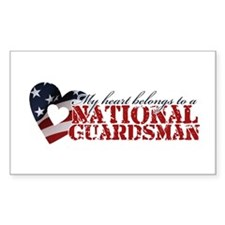 My heart belongs to a Guardsman Sticker (Rectangul