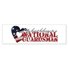 My heart belongs to a Guardsman Bumper Bumper Bumper Sticker