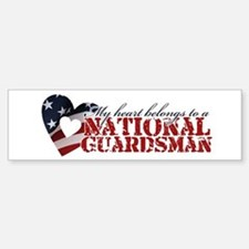 My heart belongs to a Guardsman Bumper Bumper Bumper Sticker