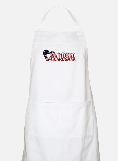 My heart belongs to a Guardsman BBQ Apron