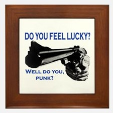 DO YOU FEEL LUCKY? Framed Tile