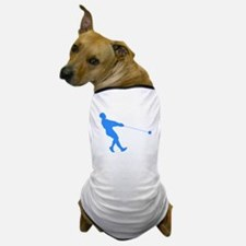 Blue Hammer Throw Silhouette Dog T-Shirt