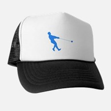 Blue Hammer Throw Silhouette Trucker Hat