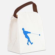 Blue Hammer Throw Silhouette Canvas Lunch Bag