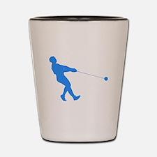 Blue Hammer Throw Silhouette Shot Glass