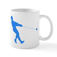 Blue Hammer Throw Silhouette Mugs